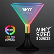 LED Mini Martini Glass Sippers, Slow Color Change