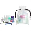 Deluxe New Mommy amenity kit - Drawstring EVA bag with deodorant, lip balm, shampoo, lotion and soap and more.