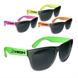Neon sunglasses - Neon sunglasses offered in assorted colors with UV coated lenses.