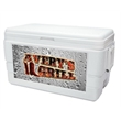 Decorator Ice Chest - White - 48 quarts, 75 can decorator capacity ice chest.