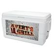 Decorator Ice Chest - White - 48 quarts, 75 can decorator capacity ice chest.
