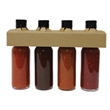 4 Pack Hot Sauce - Necker - Custom Labeled Hot Sauce Gift Collection, 4 items.