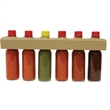 6 Pack Hot Sauce - Necker - Custom Labeled Collection - Hot Sauces, 6 items.