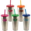 Stainless Steel Travel Tumbler with Full Color Dome Imprint - Stainless Steel Travel Tumbler with Full Color Dome Imprint