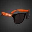 Neon Look Sunglasses With Orange Arms