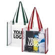 Clear Tote Bag - Clear transparent tote bag