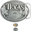 "3"" x 4"" Pewter Belt Buckle - Custom shape pewter belt buckle, 3"" x 4""."