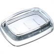 """Beveled Soap Dish - Acrylic beveled soap dish, 5 1/2"""" x 3 7/8"""" x 1 1/4"""" h."""