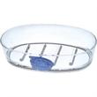 "Blue-Fish Soap Dish - Acrylic soap dish, 6 7/8"" x 3 9/16"" x 1 5/16"" h."