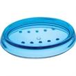 "Aqua Soap Dish - Acrylic soap dish, 5 5/8"" x 3 7/8"" x 1 1/16"" h."