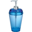 """Aqua 7 oz. Soap / Lotion Dispenser - Aqua 7 oz acrylic soap / lotion dispenser. 3 1/8"""" dia x 6 3/4"""" h."""