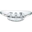 "Boulder Soap Dish - Acrylic soap dish, 5 1/16"" x 3 1/2"" x 1 1/4"" h."