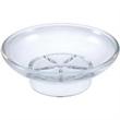 """Round Soap Dish - Acrylic, round shape soap dish, 4 1/4"""" dia x 1 1/2"""" h."""