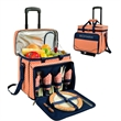 Picnic Cooler For Four On Wheels - Picnic cooler with removable wheeled cart.