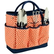 Garden Tote & Tools Set - Canvas gardening tote bag with 3 piece stainless steel garden tool set.