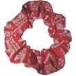 Scrunchie - Muslin covered elastic ponytail wrap. Overall print.