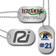 """1.125"""" x 2"""" Full Color Brushed Silver Aluminum Dog Tags - Full color dog tag"""