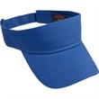 Cotton Twill Youth Sun Visor - Youth cotton twill solid color sun visor with adjustable hook and loop closure.