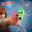 "Automatic LED Lighted Glow Bubble Gun - Automatic LED lighted bubble gun, 5 1/2""."