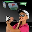 Golf Neon Green Billboard Sunglasses - Golf themed novelty plastic sunglasses with pinhole golf design on both lenses.