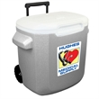 "Coleman 16 Quart (22 Can) Wheeled Cooler - 15"" x 14"" x 10"" 22-can cooler with recessed wheels, hinged lid and retractable, telescoping handle from Coleman"