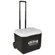 "Coleman 60 Quart (95 Can) Wheeled Cooler - 17 5/8"" x 17 1/2"" x22 5/8"" cooler with wheels and telescopic handle that holds up to 95 cans from Coleman"