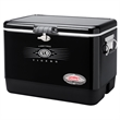 "54 Quart Steel Belted Cooler - 26"" x 18"" x 17"" cooler with rubber-gripped handles, durable base, lid and liner and drain from Coleman®"