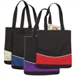 Fashion Tote - 600 denier polyester fashion tote bag. Open tote with two-tone curve design. Available in a variety of colors.