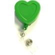 Heart shape retractable badge holder
