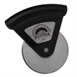 Steel Cutter - Steel pizza cutter with plastic handle.