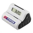4 Port USB Hub with Auto Letter Opener and Alarm Clock - 4 port USB hub with automatic letter opener and LCD alarm clock.