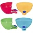 Dip Clips - Dip Clips; a mini side bowl for dip; clips to side of most plates; 1/3 cup capacity; soft grip button hold cup in place.