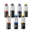 25 oz. PBA-Free aluminum water bottle with sipper lid - 25 oz. PBA-Free aluminum water bottle with sipper lid and color rings.