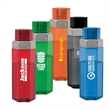 Revive 40 oz. Tritan™ Water Bottle - 40 oz. Tritan bottle with a hexagon design and stainless-steel band.