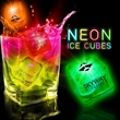 Neon Lited Ice Cubes  - Unique NEON Light Up Ice cubes add a splash of color to any cocktail! Available blank and imprinted.