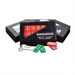 Custom Printed Double Six Domino Set and Case - Domino sets feature vinyl, snap-shut cases. Three domino colors are available. Cases are available in black.