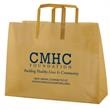 Color Frosted Tri-Fold Handle Bags - Clearance - 3.5 mil. high density frosted color plastic bags with fused tri-fold handle, side & bottom gussets and cardboard bottom insert.