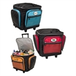 Rolling Cooler - Rolling cooler with quad wheels and elastic cord storage on top.