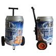 Can shaped 54L wheeled cooler with long handle - Can shaped 54L wheeled cooler with long handle