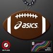 Football Shape Medallions with J-Hooks for Beads