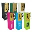 """Sicily Wine Bag - Wine Bag 600 denier polycanvas and woven """"jute like"""" material with metal grommets and rope handles."""