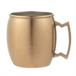 18 oz single wall stainless Siberian Mule w/copper plating - 18 oz. mug made of stainless steel and covered in copper plating.