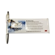 Banner Pen - Retractable banner pen with translucent barrel and silver painted tip.