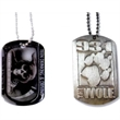 """Dog Tag - Printed aluminum dog tag with 24"""" ball chain."""