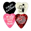 Celluloid Heart Shaped Guitar Pick - Custom one color imprinted heart shaped guitar picks.