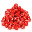 Red Dice with Rounded Corners - 100-pack of red plastic dice with rounded corners. Great for games or education.