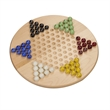Solid Wood Chinese Checkers Set with Glass Marbles - 11.5 In - Solid Wood Chinese Checkers Set with Glass Marbles - 11.5 Inches