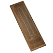 Classic Cribbage Set - Solid Walnut Wood Continuous 3 Track - Classic Cribbage Set - Solid Walnut Wood Continuous 3 Track Board with Metal Pegs