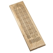 Classic Cribbage Set - Solid Oak Wood Continuous 3 Track Brd - Classic Cribbage Set - Solid Oak Wood Continuous 3 Track Board with Metal Pegs