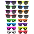 80's Style Sunglasses - 80s Sunglasses in full neon frame and matter rubber finish.